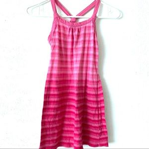 Old Navy Pink Ombré Striped Girl's Kid's Dress Sml